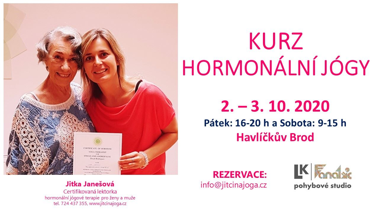 Víkendový seminář Hormonální jógy - Havlíčkův Brod - 2 místa
